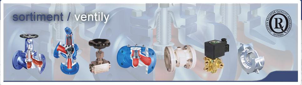 KASEN: ventily, kohouty, klapky, šoupátka, regulátory, odvaděče kondenzátu